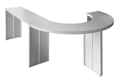 Table haute panco h 110 cm l 290 cm blanc lapalma - Table mange debout blanc laque ...