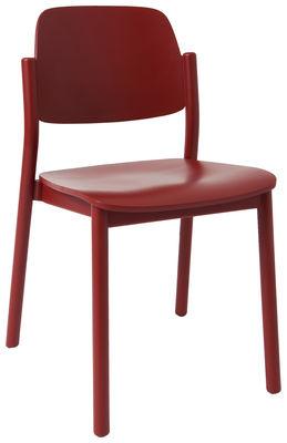 chaise april bois rouge brun marcel by. Black Bedroom Furniture Sets. Home Design Ideas