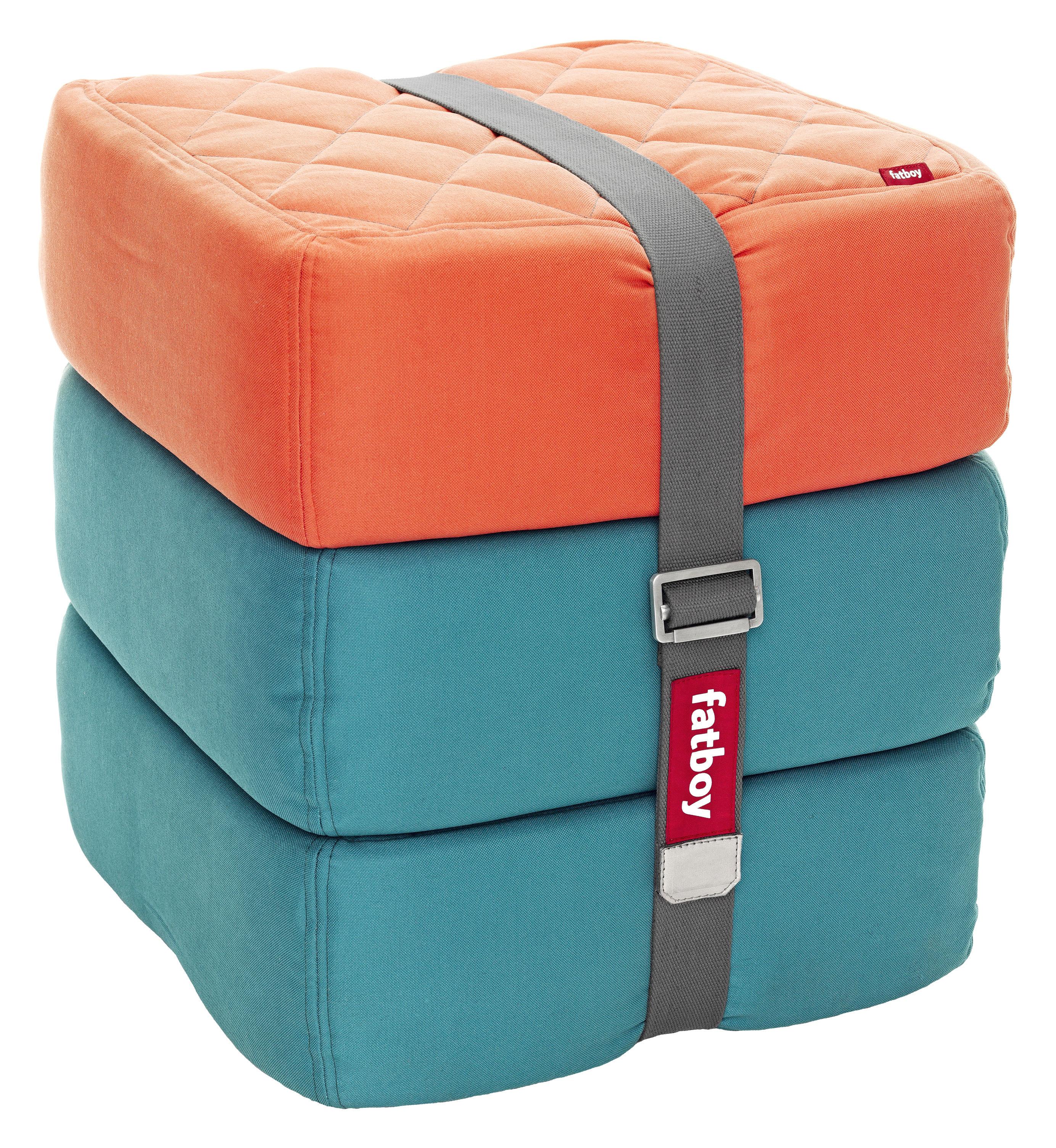 baboesjka pouf set 3 floor cushions orange blue by fatboy. Black Bedroom Furniture Sets. Home Design Ideas