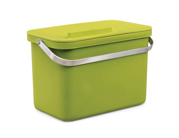 Poubelle de tri totem 4 bac collecteur vert joseph joseph for Poubelle de cuisine vert pastel