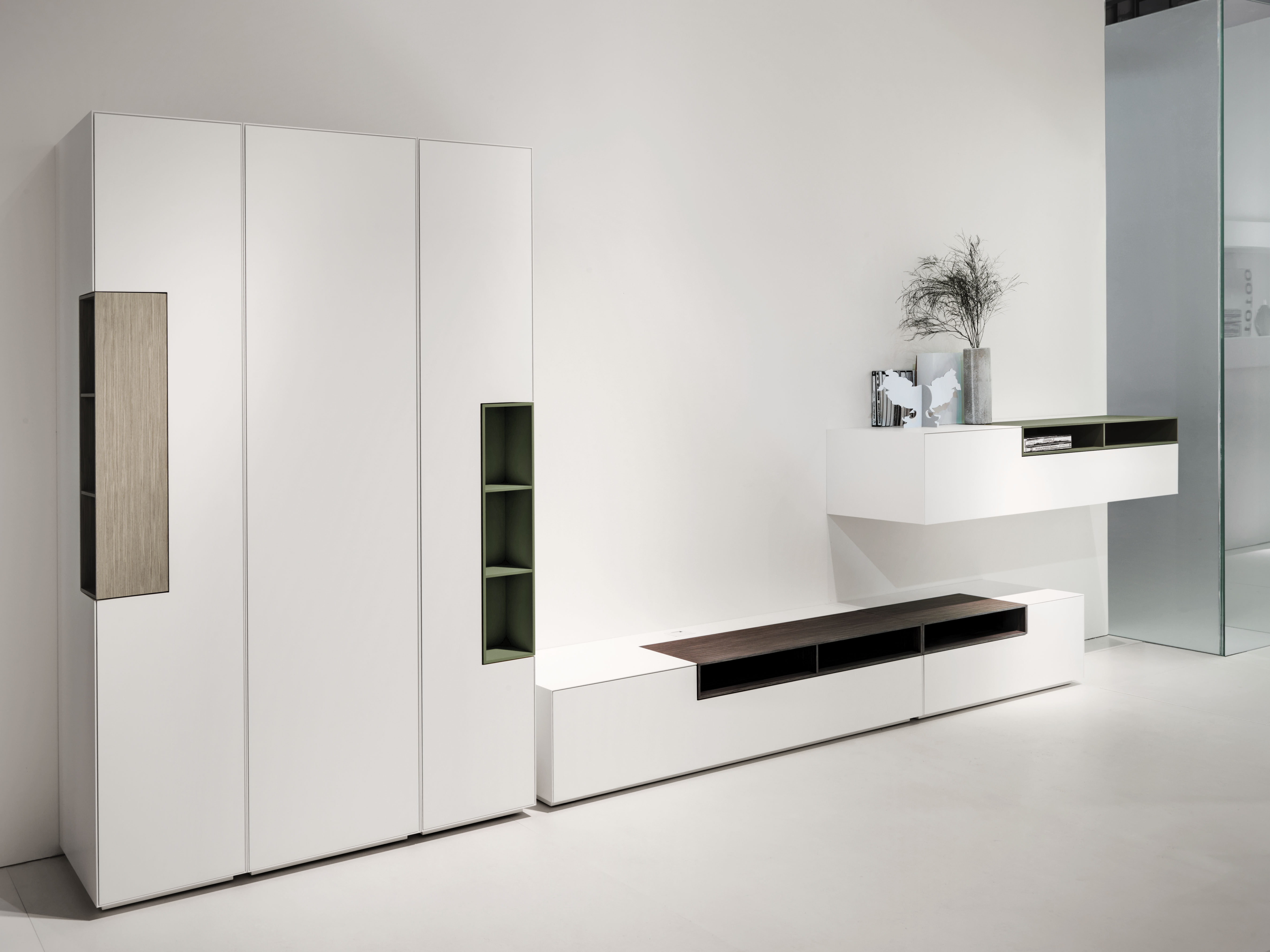 Inmotion storage column 3 shelves h 188 x w 45 cm h 188 x w 45 cm matt white by mdf italia - Mdf italia ...