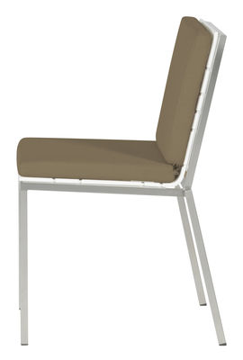Foto Cuscino - seduta e schienale per sedia Bandoline di Viteo - Sabbia - Tessuto