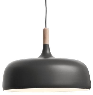 Foto Sospensione Acorn di Northern Lighting - Grigio,Legno naturale - Metallo