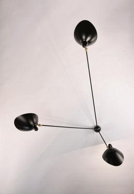 applique araign e 3 bras fixes 1955 noir serge mouille. Black Bedroom Furniture Sets. Home Design Ideas