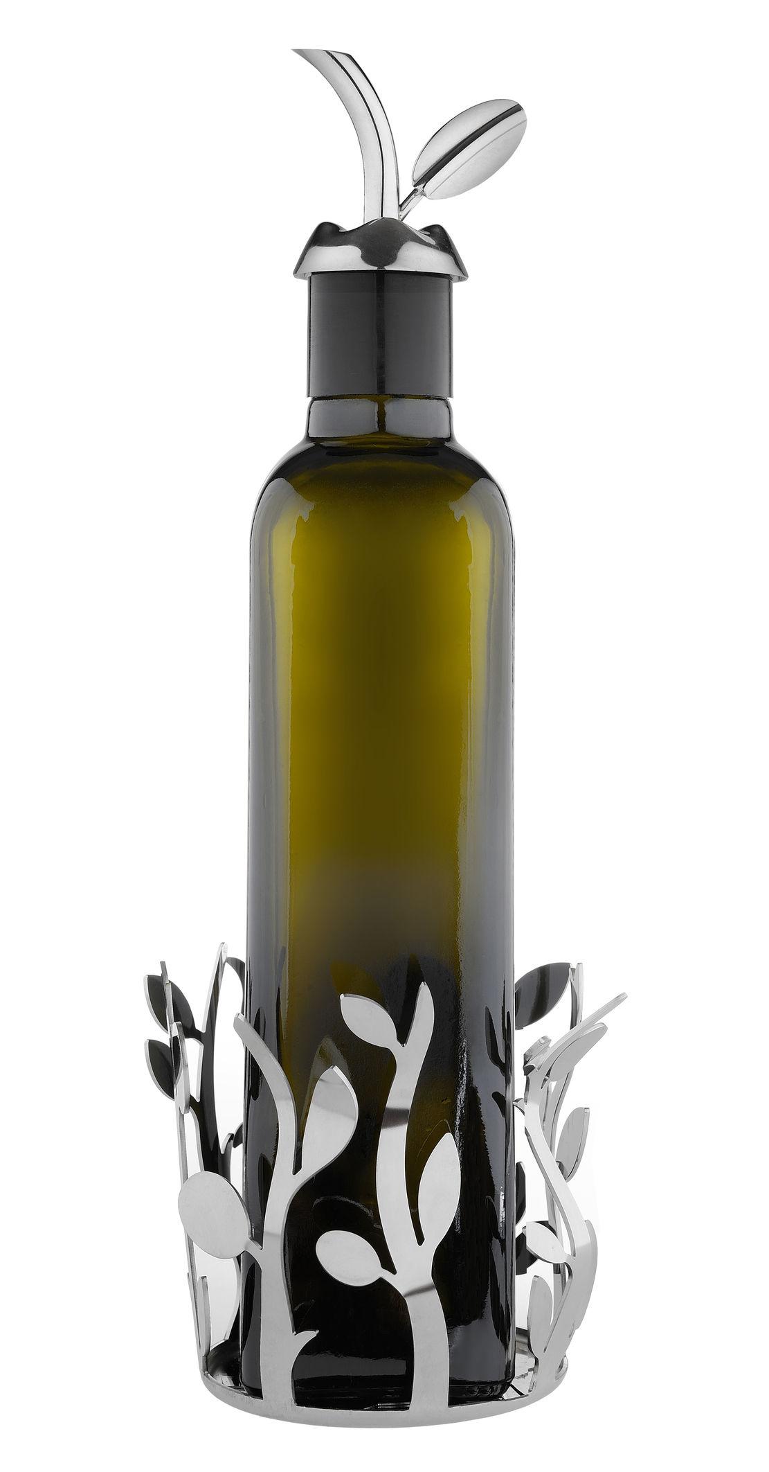 Porte bouteilles oliette pour bouteilles d 39 huile acier poli miroir al - Huile pour porte qui grince ...