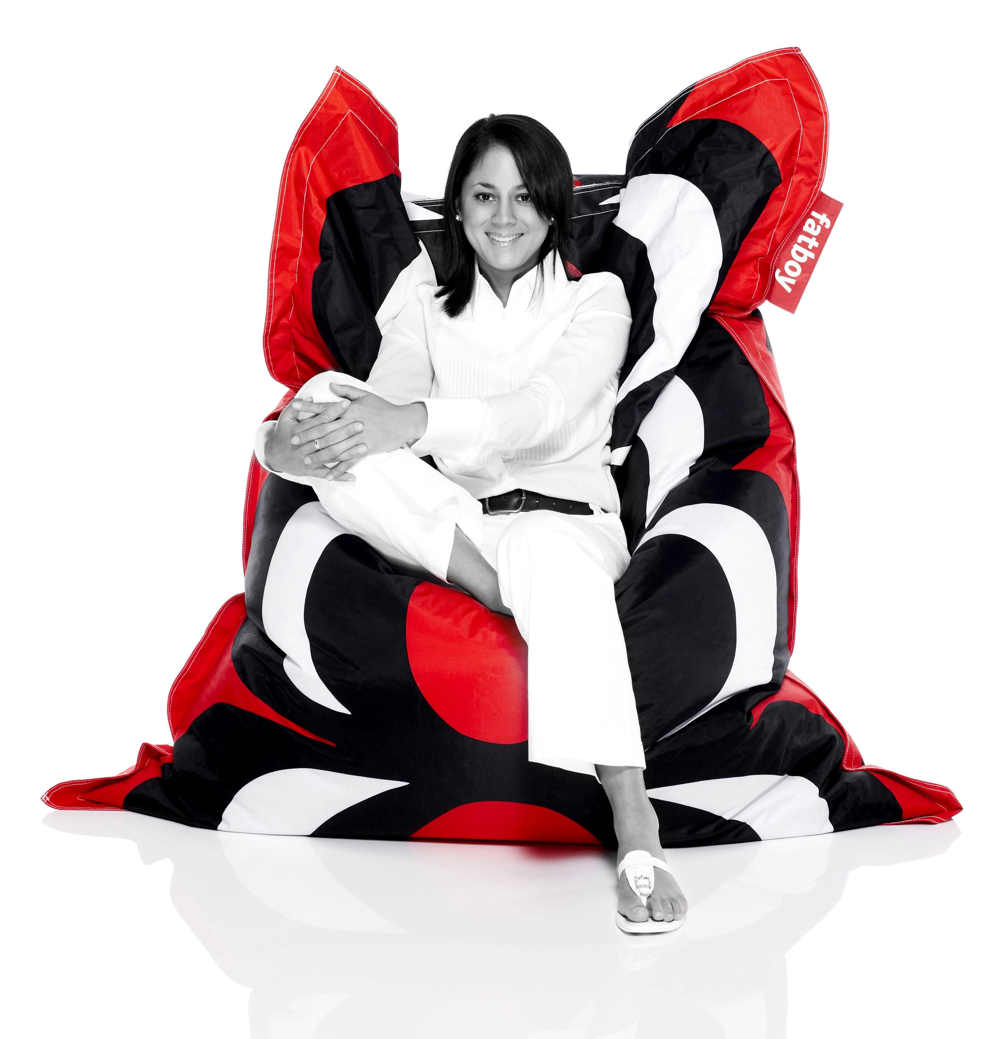 marimekko kalvo pouf kalvo red by fatboy. Black Bedroom Furniture Sets. Home Design Ideas