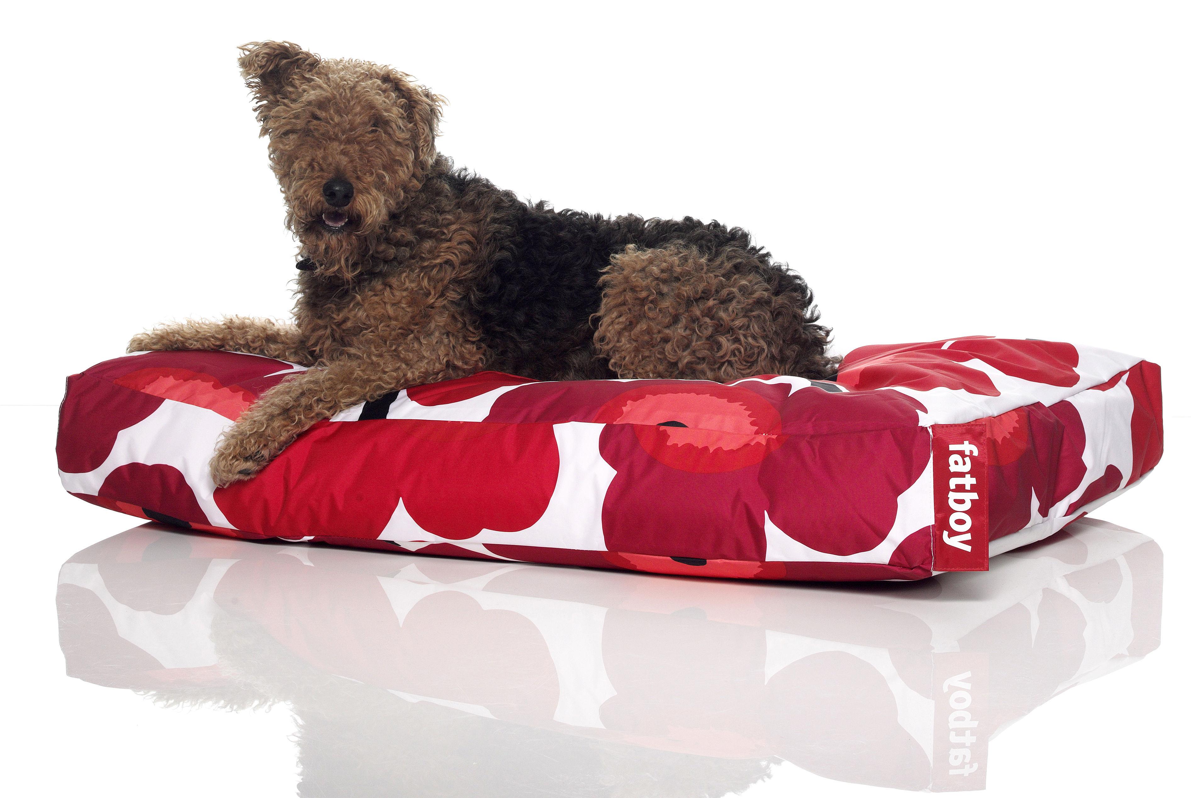 pouf doggielounge marimekko pour chien large unikko rouge fatboy. Black Bedroom Furniture Sets. Home Design Ideas