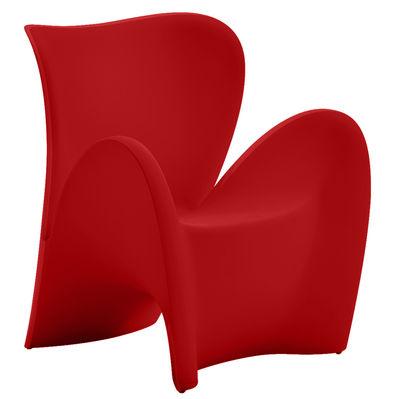 fauteuil lily plastique rouge mat myyour. Black Bedroom Furniture Sets. Home Design Ideas