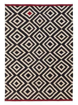 Foto Tappeto Melange - Pattern 1 / 170 x 240 cm - Nanimarquina - Bianco,Rosso,Nero - Tessuto
