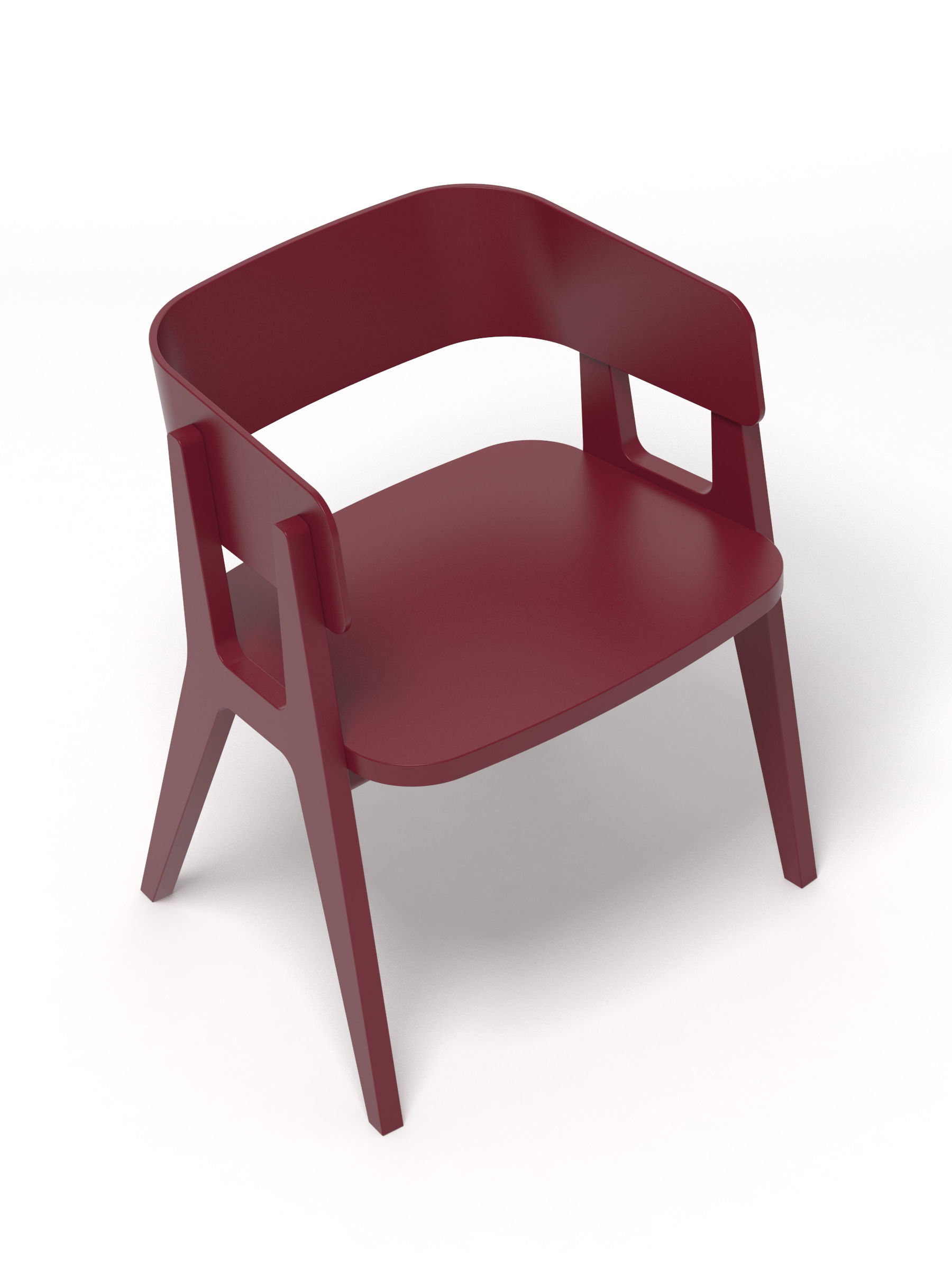 fauteuil henri bois bordeaux made in design editions. Black Bedroom Furniture Sets. Home Design Ideas