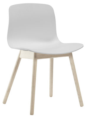 chaise about a chair aac12 plastique pieds bois blanc. Black Bedroom Furniture Sets. Home Design Ideas