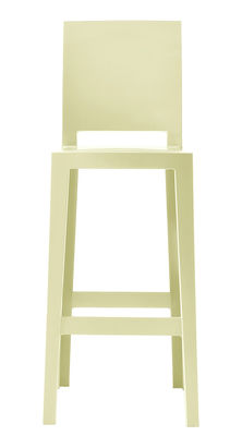 Foto Sedia da bar One more please - H 65cm di Kartell - Giallo - Materiale plastico