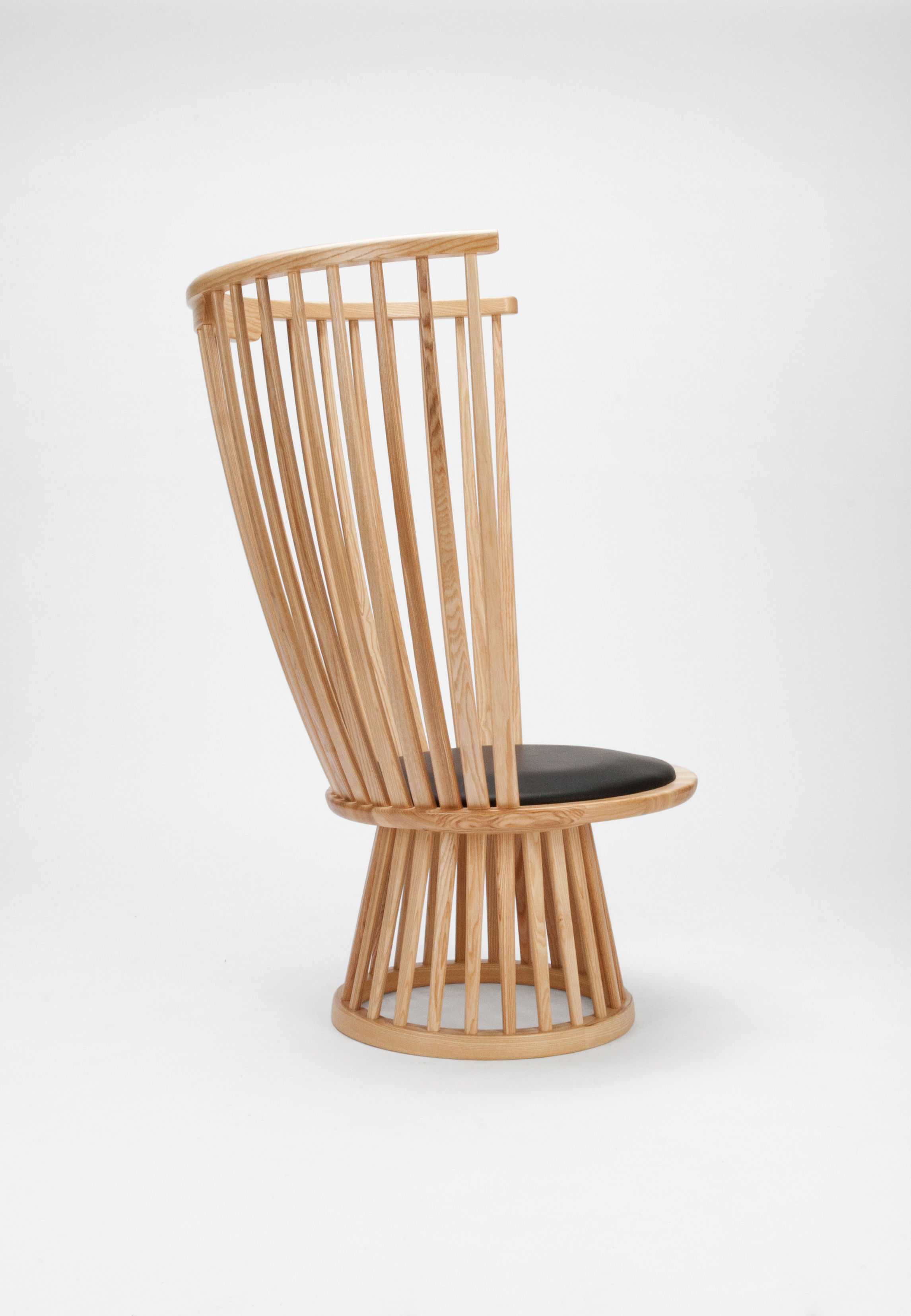 Fan chair Armchair - H 112 cm / Wood & leather Natural by ...