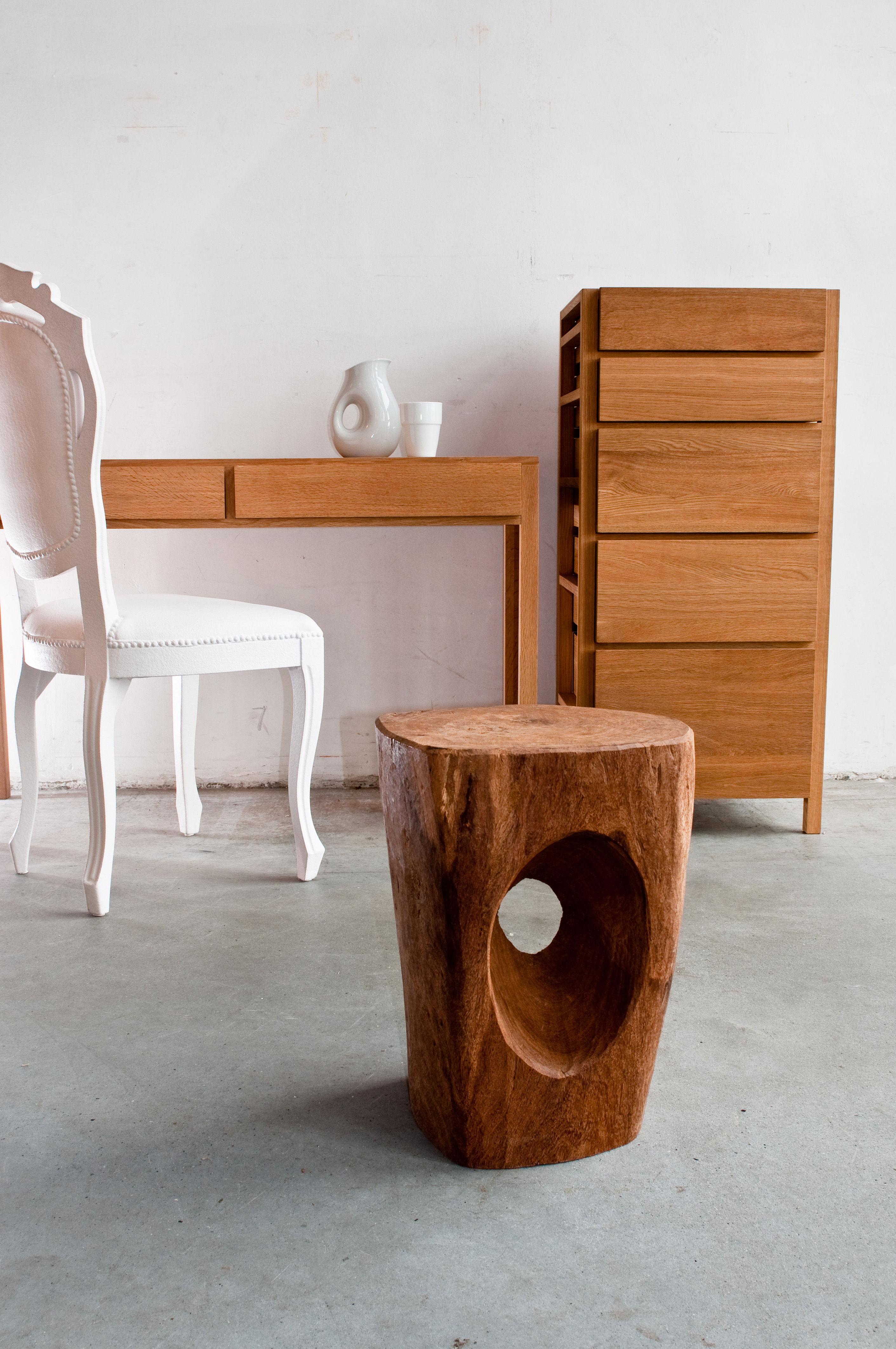 tabouret devil 39 s eye bois bois pols potten. Black Bedroom Furniture Sets. Home Design Ideas
