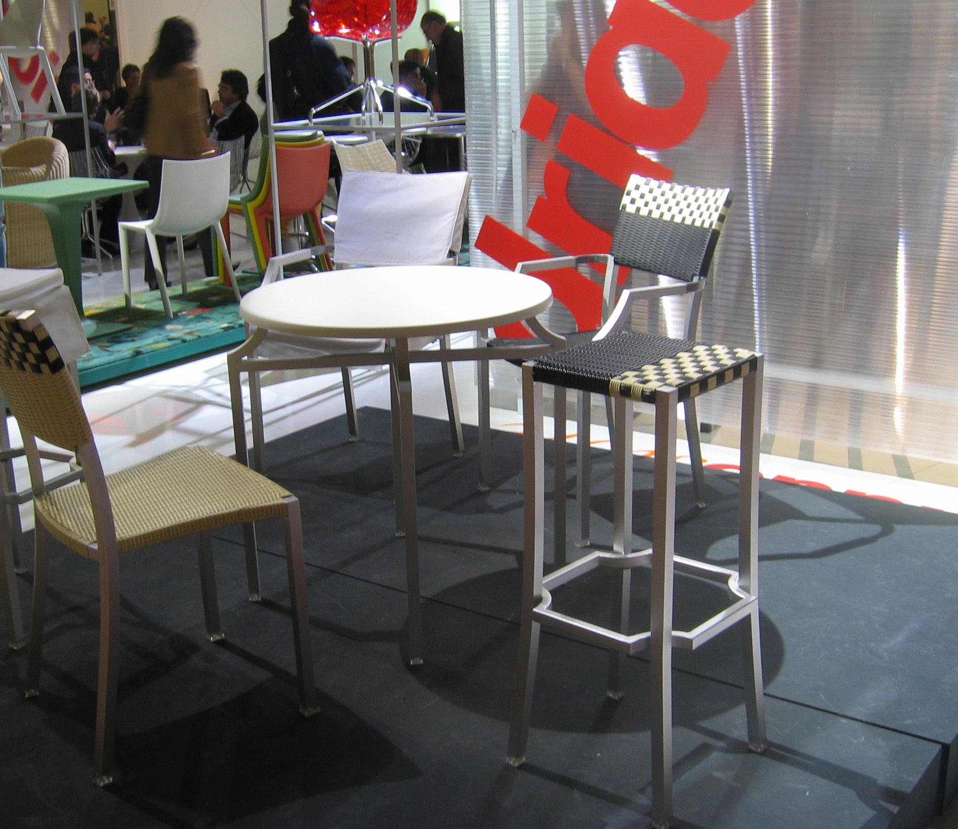 One cafe 39 bar stool h 75 cm ivory black by driade - Cafe driade ...