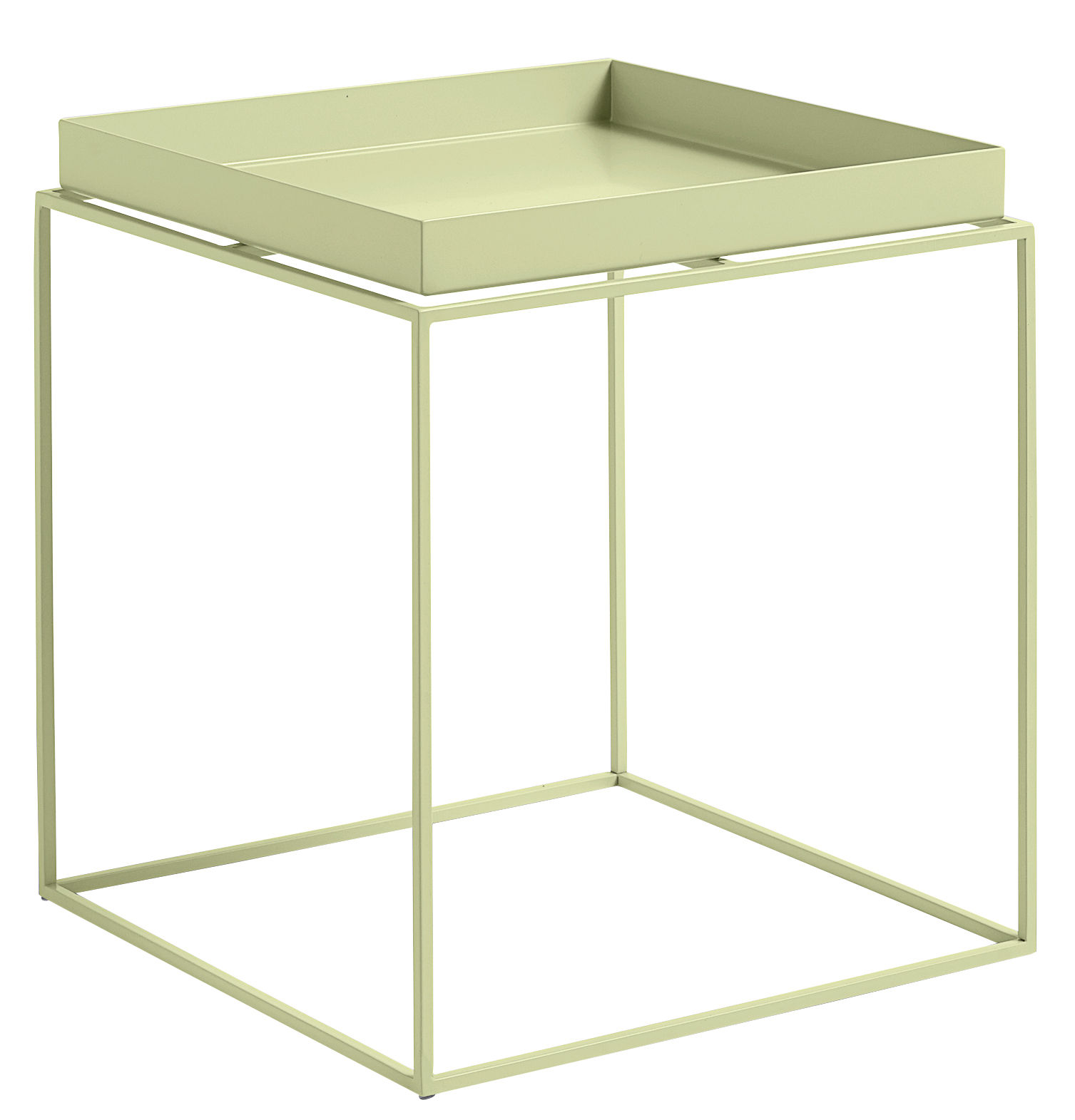 table basse tray h 40 cm 40 x 40 cm carr jaune clair. Black Bedroom Furniture Sets. Home Design Ideas