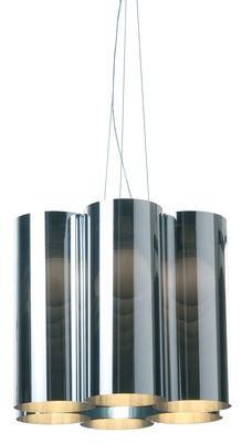 Foto Sospensione Tubes 7 di Dix Heures Dix - Cromato - Materiale plastico