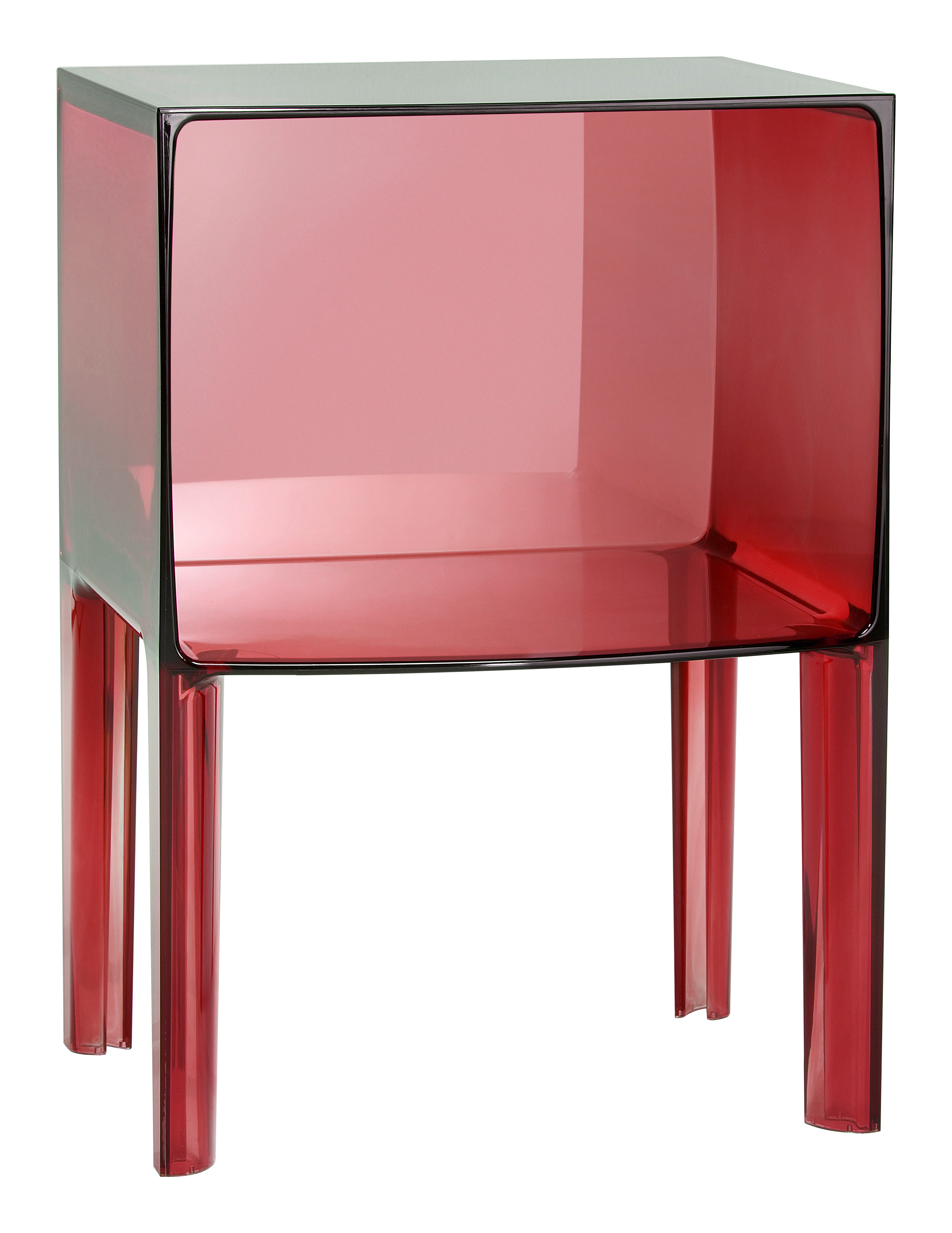small ghost buster bedside table red by kartell. Black Bedroom Furniture Sets. Home Design Ideas