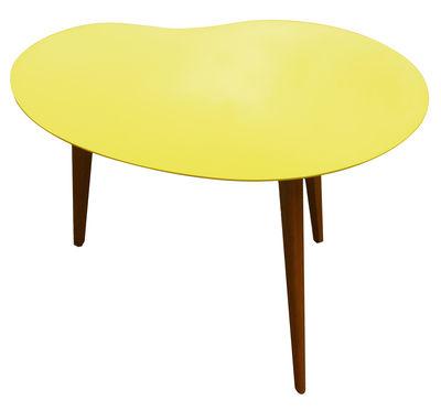 table basse lalinde haricot large pieds bois jaune pieds ch ne sentou edition. Black Bedroom Furniture Sets. Home Design Ideas