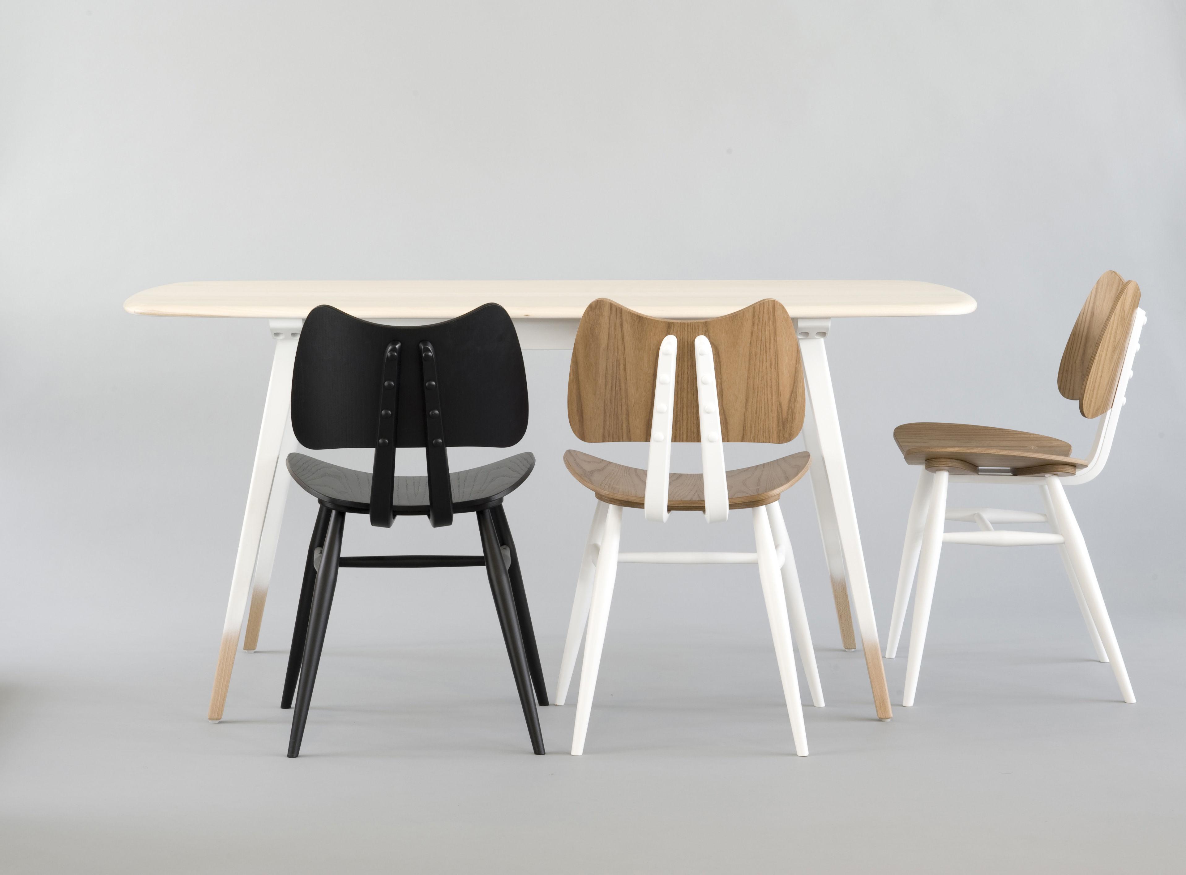 chaise butterfly bois r dition 1958 noir ercol. Black Bedroom Furniture Sets. Home Design Ideas