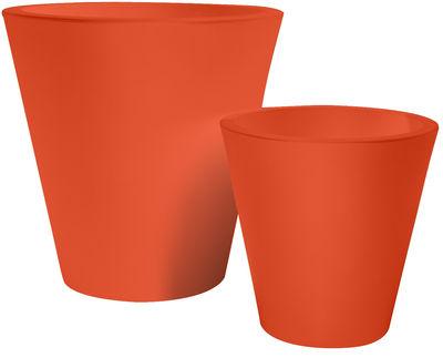 Foto Vaso per fiori New pot - h 70 cm di Serralunga - Arancione - Materiale plastico
