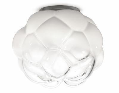Foto Plafoniera Cloudy - LED / Ø 40 cm di Fabbian - Bianco,Trasparente - Vetro