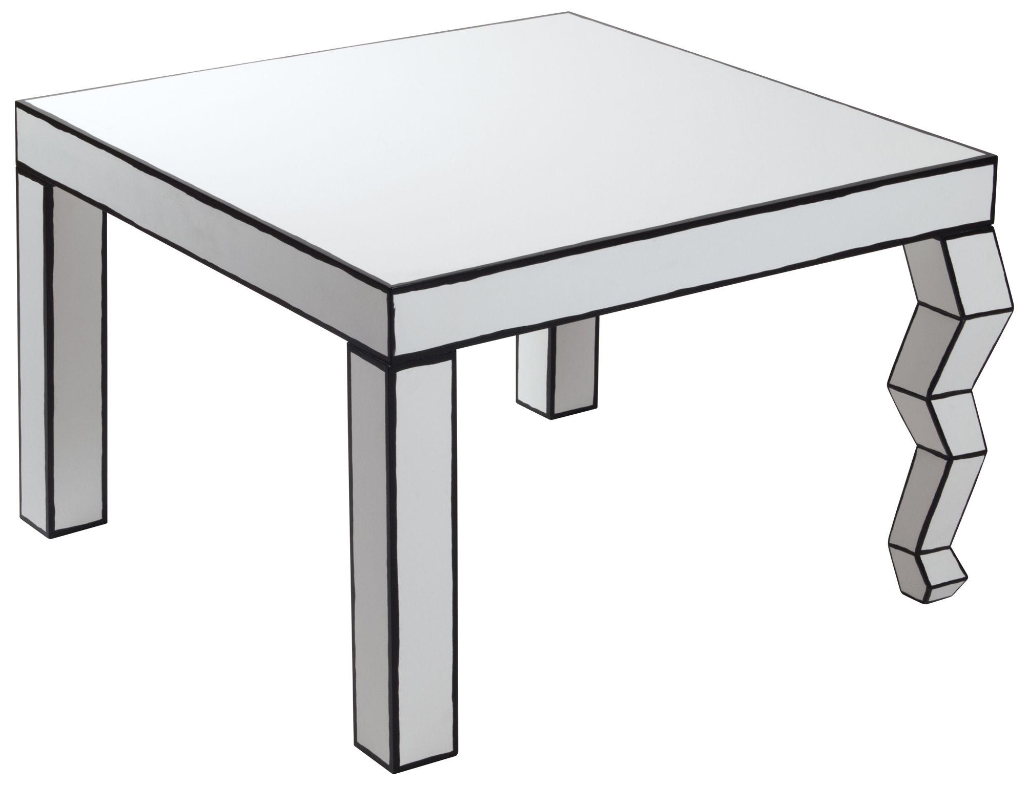The Trip Cartoon Coffee table Black & white by Seletti