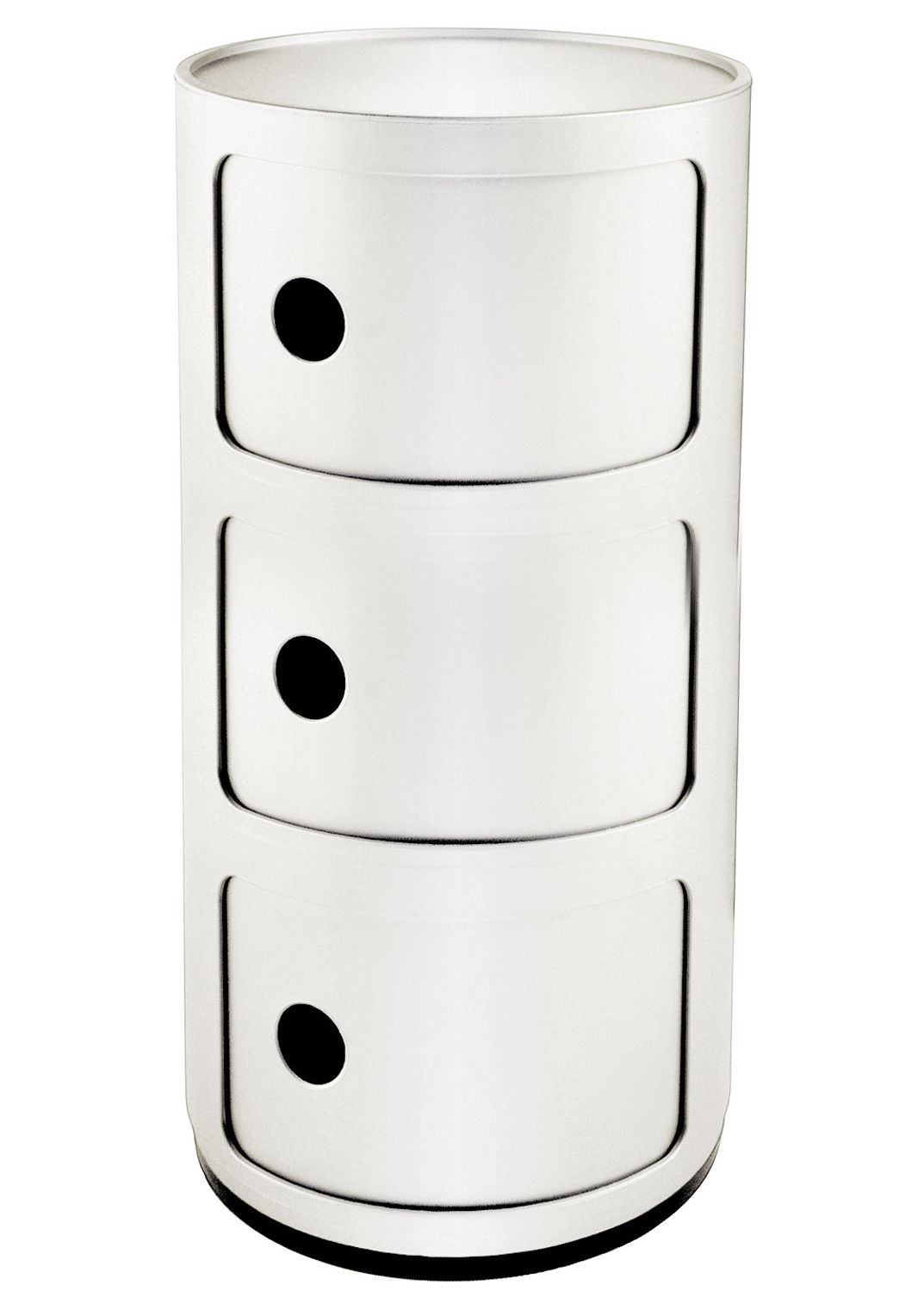 componibili storage 3 elements white by kartell. Black Bedroom Furniture Sets. Home Design Ideas