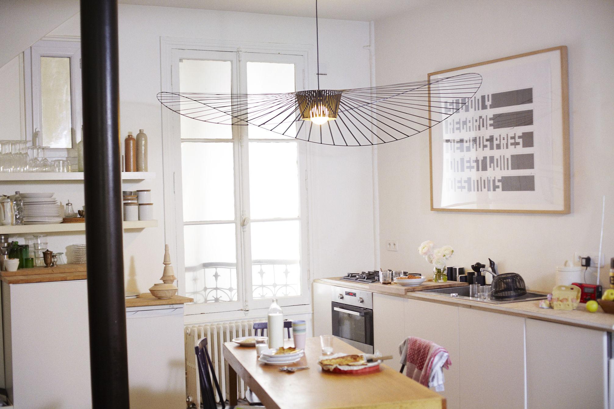 Suspension vertigo small 140 cm noir petite friture - Luminaire pour cuisine design ...