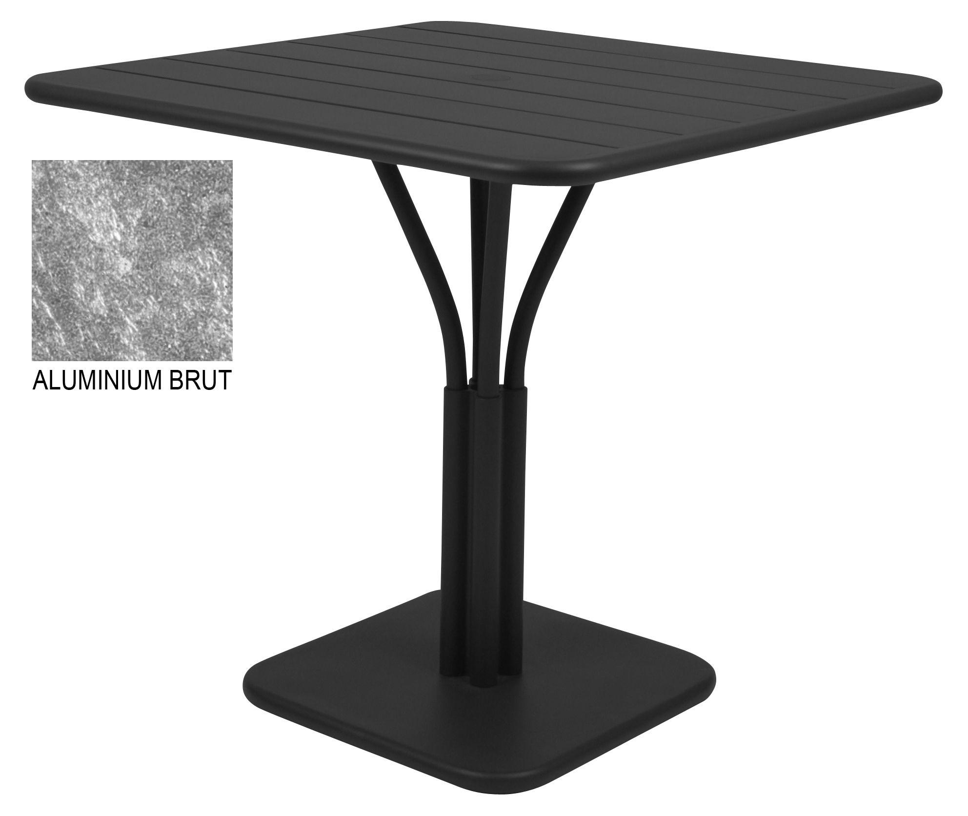 Table de jardin luxembourg brut 80 x 80 cm pied for Tables de jardin fermob