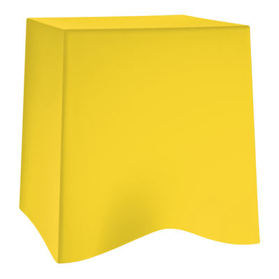 Tabouret empilable briq plastique jaune citron koziol - Tabouret plastique empilable ...