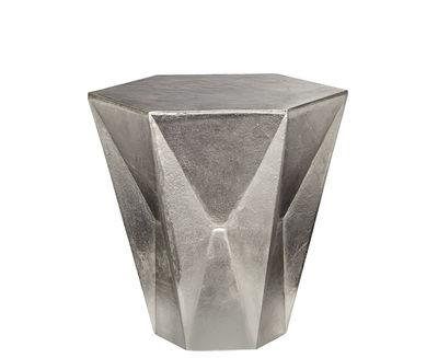 Foto Sgabello Gem - / Tavolino basso - Ø 40 x H 40 cm di Tom Dixon - Nichel - Metallo