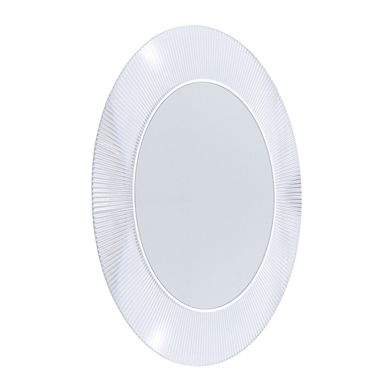 Miroir lumineux all saints led 78 cm cristal kartell for Miroir kartell