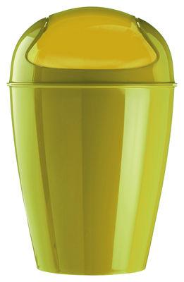 Foto Pattumiera Del XL - A 65 cm - 30 litri di Koziol - Mostarda verde - Materiale plastico