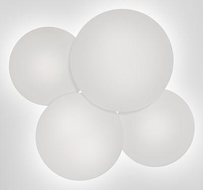 Foto Plafoniera Puck - Quadrupla / 60 x 53 cm di Vibia - Bianco - Vetro