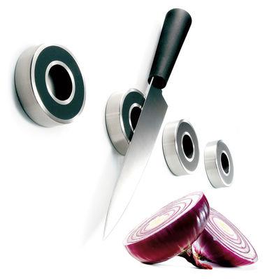 support magn tique pour couteau lot de 4 noir inox eva solo. Black Bedroom Furniture Sets. Home Design Ideas