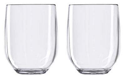 Vertical Party Beach Water glass - 2 policrystal goblets 42 cl
