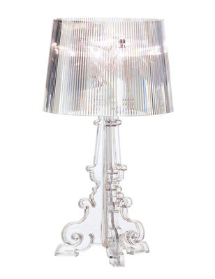 Lampe de table bourgie h 68 78 cm cristal kartell - Lampe de bureau kartell ...