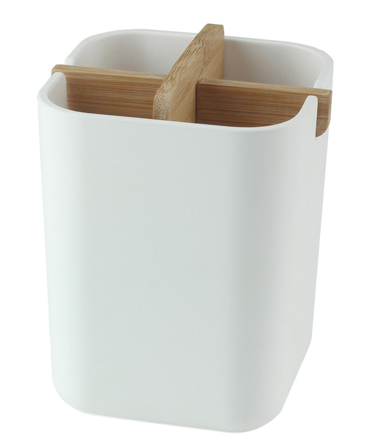 Zen Pencil Holder White Bamboo By Lexon