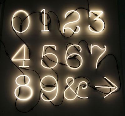 Applique neon art symbole symbole blanc seletti - Applique neon design ...