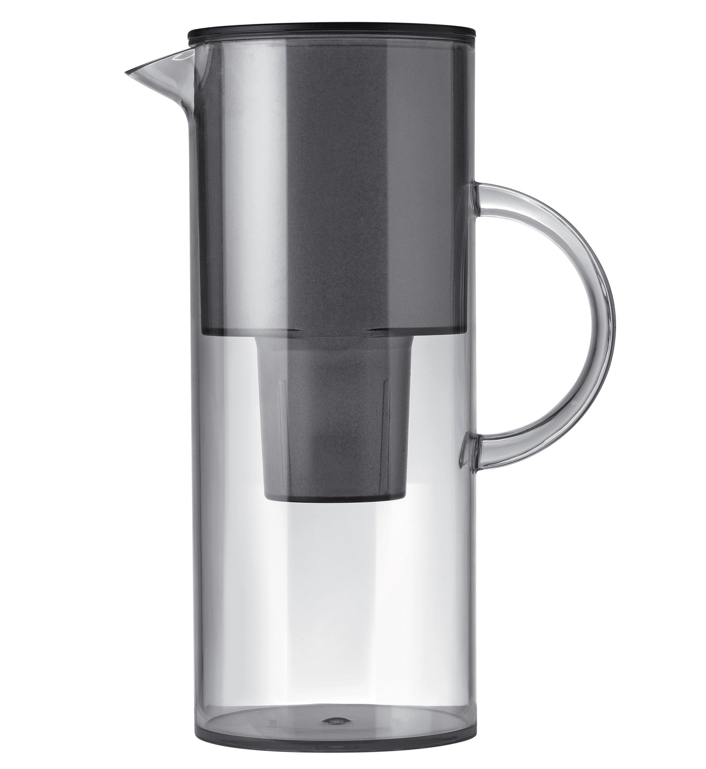 Classic water filter jug with filter smoke grey by stelton - Brita carafe filtrante ...