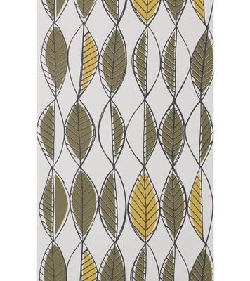 papier peint retro leaves 1 rouleau larg 53 cm olive curry noir ferm living. Black Bedroom Furniture Sets. Home Design Ideas