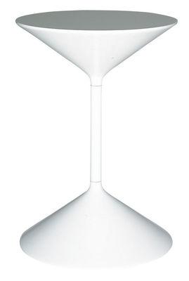 Foto Tavolino d'appoggio Tempo di Zanotta - Bianco laccato - Metallo