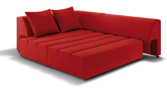 Canap d 39 angle smoothy by ora ito convertible gauche l 266 cm rouge - Canape convertible dunlopillo ...