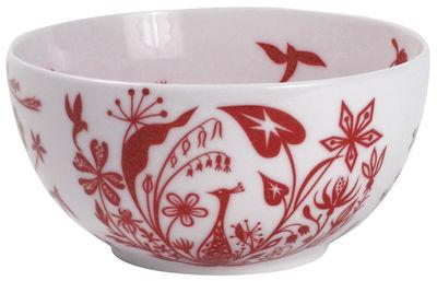 Image du produit Saladier Table Stories - Flower Paecocks / Ø 22 cm - Authentics Rouge en Céramique