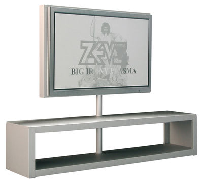 Meuble tv big al plasma support d 39 cran plat aluminium anodis zeus - Meuble tv support ecran ...