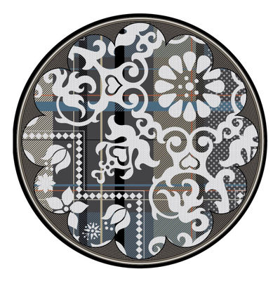 tapis fata morgana tj two rond 350 cm multicolore moooi. Black Bedroom Furniture Sets. Home Design Ideas