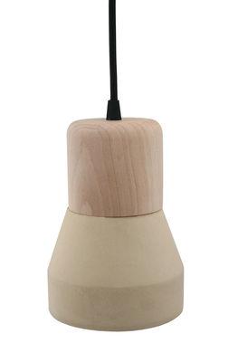 Suspension Cement Wood / Ø 13 cm - Spécimen Editions Jaune,Bois naturel en Bois