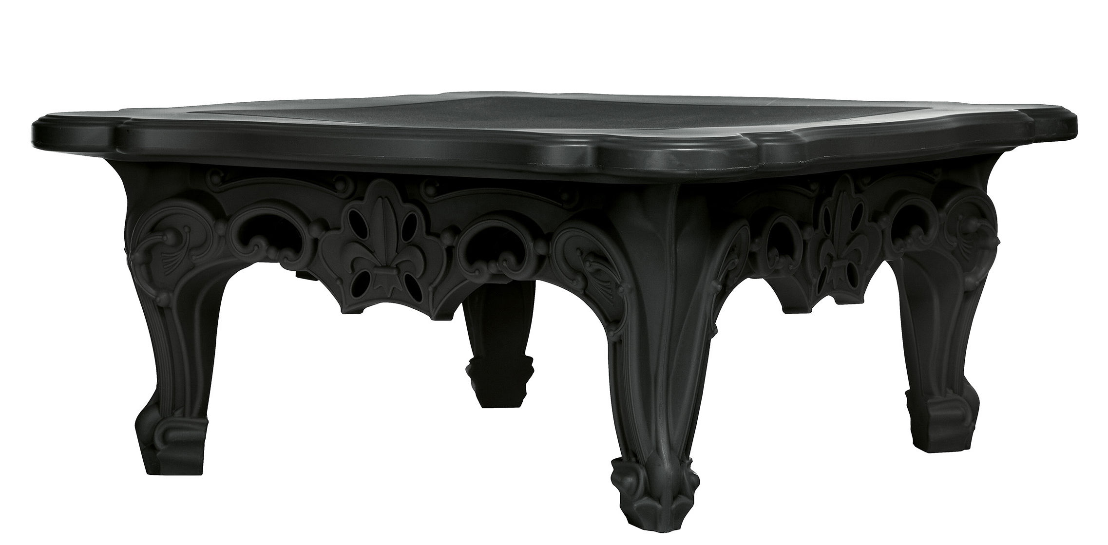 Duke of love coffee table 72 x 72 cm black by design of for Coffee table 72 inch