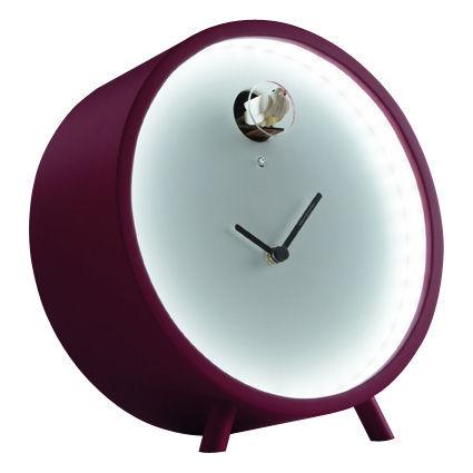 plex horloge poser luminous led with cuckoo standing version magenta by diamantini. Black Bedroom Furniture Sets. Home Design Ideas